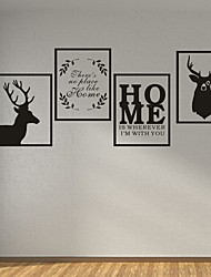 AYA DIY Frame Wall Stickers Wall Decals Deers HOME PVC Wall Stickers 40*30cmX4