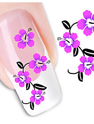 1sheet  Water Transfer Nail Art Sticker Decal XF1465