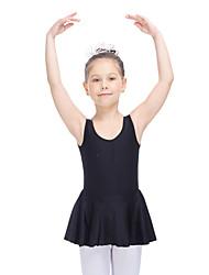Ballet Dresses Women's Children's Training Nylon Lycra Ruffles 1 Piece Sleeveless Dress
