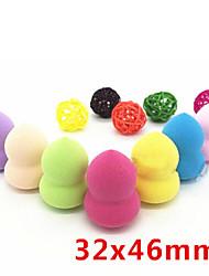 3 Pcs Mini Bottle Gourd Sponge Gourd Powder Puff 46 * 32 Mm Makeup Makeup Cotton Calm Makeup Beauty Makeup Tools  Color random