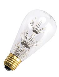 3W E26/E27 Lâmpadas de Filamento de LED ST64 47 SMD 300 lm Branco Quente Decorativa AC 220-240 V 1 pç