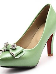 Women's Heels Spring Summer Fall Winter Club Shoes Leatherette Wedding Party & Evening Dress Stiletto Heel Bowknot Sparkling GlitterBlack