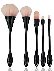 5 Concealer Bürste Grundlagen Pinsel Bürsten-Satz- Rouge Pinsel Nylon Pinsel vollständige Bedeckung Synthetik Berufs PlastikAuge Lippe