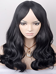 Europe and the United States in the new long-term shawl wave black in the high temperature wire wig