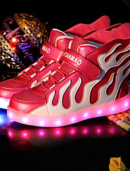 LED Light Up Shoes,Boy's Sneakers Spring / Summer / Fall / Winter Comfort Leather Outdoor / Athletic / Casual Low Heel/ Lace-upBlack / Blue / Pink /