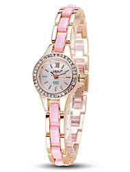 Damen Modeuhr Armbanduhr Quartz / Legierung Band Cool Bequem Elegante Schwarz Weiß Rosa Lila Weiß Schwarz Purpur Rosa
