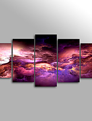 Canvas Print Abstract Cloud ModernFive Panels Canvas Horizontal Print Wall Decor For Home Decoration
