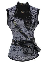 Damen Brustkorsett  -  Baumwolle / Polyester / Elasthan / Modal Reißverschluss