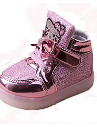 Girl's Sneakers Spring Summer Fall First Walkers Light Soles PU Casual Flat Heel Pink Silver Gold