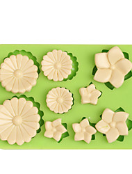 9 Holes Flowers Shape Silicone Fondant Mould for Cake Candy Jelly Chocolate Muffin Gum Paste Molds