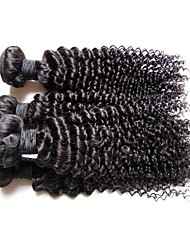 4bundles 400g brazilian afro kinky curly virgin human hair top 12a grade best quality 100% natural unprocessed original hair natural black color