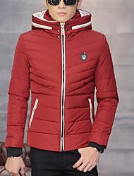 homens&# 39; s casaco de inverno 2016 nova de algodão homens jaqueta de inverno com capuz short slim acolchoadas