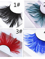 A Pair Of Hairy Feathers Multi-Color Optional Exaggerated False Eyelash Ball