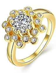 Ring AAA Cubic Zirconia Rose Gold Gold Zircon Cubic Zirconia Gold Rose Jewelry Daily Casual 1pc