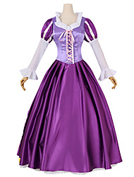 Inspired by Cosplay Womens Halloween Costume Deluxe Long Purple Dress
