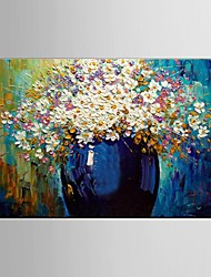 Oil Painting Flower Knife Living Painting Hand Painted Canvas with Stretched Framed Ready to Hang