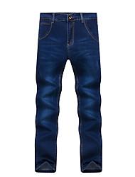 Herren Übergrössen Gerade Schlank Jeans Chinos Hose-Lässig/Alltäglich Arbeit Klub Vintage Einfach Street Schick einfarbig Tiefe Hüfthöhe