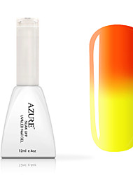Gel UV para esmalte de uñas 12ml 1 Color Cambiante Brillante Esmalte Gel UV Top Coat Brillo y Brillantina Luz Neón y BrilloEmpapa de