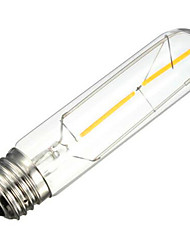 2W E26/E27 LED Filament Bulbs Tube 2 SMD 5730 200 lm Warm White Decorative AC 220-240 V 1 pcs