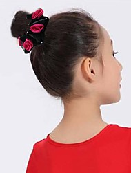 Girls Fashion Trendy Cute The Cloth Art Series Simulation Slowers Rose High Elastic Hair Band