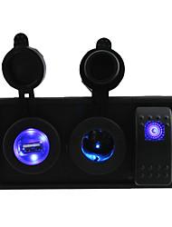 dc 12v / 24v conduit usb 2.1a prise d'alimentation du chargeur avec interrupteur à bascule fils de cavalier et porte-logement