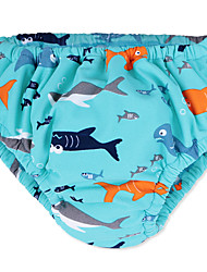 Newborn Baby Swimming DiaperCute Babies Kids Swimwear with Waterproof Coral Velvet for 3M -3Y