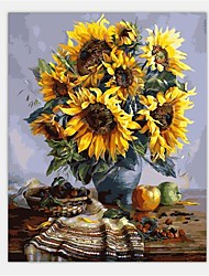 1Pcs 40X50Cm DIY Sunflowers Frameless Picture On Wall Acrylic Oil Painting By Numbers Abstract Drawing By Numbers Unique