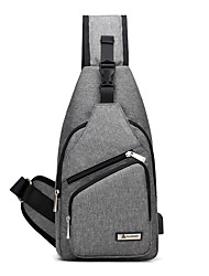 Unisex Bags All Seasons Canvas Sling Shoulder Bag with for Casual Sports Outdoor Office & Career Professioanl Use Blue Black Gray Purple