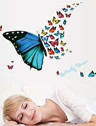 Fantasy Gorgeous Butterfly Dream Wall Stickers DIY Removable Wall Decals Wall Art