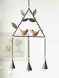 Fashion Retro Iron Bird Wind Leaves Metal Chime For Wrought Iron Resin Metal Wind Chimes Household Adornment Wall Hanging