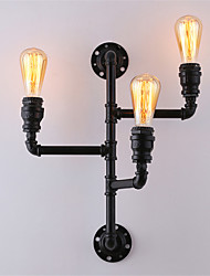 Vintage Industrial Pipe Wall Lights Black Creative Lights Restaurant Cafe Bar Decoration lighting With 3 Light Painted Finish
