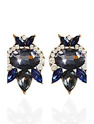 Tropfen-Ohrringe Ohrring Ohrringe Set Schmuck Damen Halloween Party Normal Aleación Strass 1 Paar Schwarz Blau