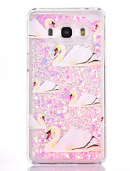 For Samsung Galaxy G530 Case Cover Goose Pattern Small Fresh Series PC Material Love Quicksand Flash Powder Phone Case