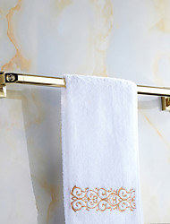 European Style Solid Brass Crystal Gold Bathroom Shelf Bathroom Towel Bar Bathroom Accessories