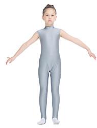 Ballet Leotards Women's Children's Training Nylon Lycra Buttons 1 Piece Sleeveless Leotard