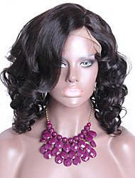 Hot Selling Body Wave Short Wigs For Black Women 13x6 Lace Front Wig For Sale 130% Density 16 Natural Color Left Part