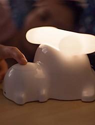 1pc cachorro criativa lâmpada de cabeceira usb cobrando presentes pequena lamparina de escurecimento luzes sensíveis ao toque (cor