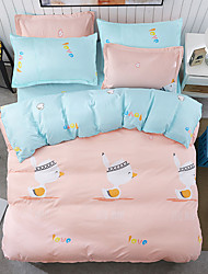 Meng duckling Duvet Cover Set 1pc Duvet Cover 1pc Bed Sheet Set 2  pcs Pillowcase Bedding Set