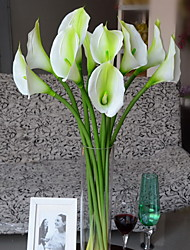 Set of 1 PCS 1 Rama Poliéster Lirios Flor de Mesa Flores Artificiales 28