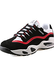 Men's Athletic Shoes Spring Fall Comfort PU Casual Athletic Flat Heel Lace-up Others Black and Red Black/Green Black/White