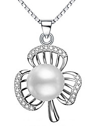 Women's Pendants Pearl Sterling Silver Imitation Pearl Basic Personalized Silver Jewelry Daily Casual 1pc