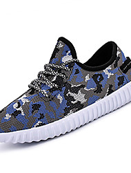 Unisex Athletic Shoes Spring Summer Fall Comfort Light Soles Tulle Outdoor Athletic Casual Low Heel Wedge Heel Lace-up Black Blue Gray