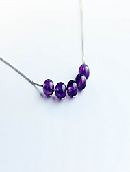 Necklace Pendant Necklaces Jewelry Birthday Daily Basic Design Sterling Silver Women 1pc Gift Purple