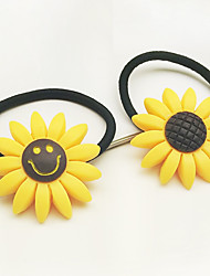 Han Edition Hair Bands Hair Sunflower Sunflower Lovely Smile Jewelry Line Tire Rope 10pcs