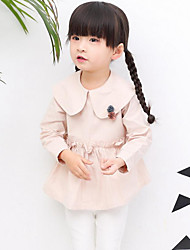 Girl Casual/Daily Holiday Solid Shirt,Cotton Spring Long Sleeve
