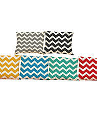 Set of 6 Simple geometric corrugated pattern  Linen Pillowcase Sofa Home Decor Cushion Cover