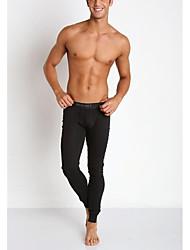 Masculino Meia Calça MasculinaEsportivo Cor Única,Algodão