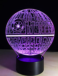 Death Star 3D Illusion Night Light Led 7 Color Change Desk Table Lamp Lighting Decor Gadget Lamp Awesome Gift For Kids
