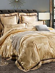 Floral Duvet Cover Sets 4 Piece Cotton Luxury Reactive Print Cotton Queen 1pc Duvet Cover 2pcs Shams 1pc Flat Sheet