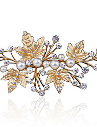Highlighting The Bride Pearl Jewelry Dumb Blonde Exquisite Diamond Pearl Flat Nose Clamp The Bride Headdress 1PCS